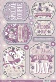 Craftstyle A4 Diecut Topper Sheet - Wedding Day